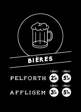 Affichette bières