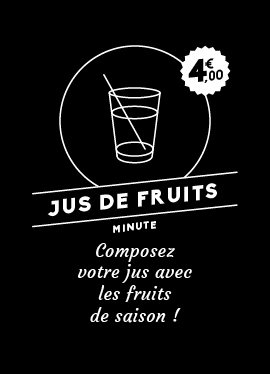Affichette jus de fruits