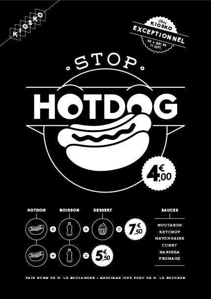 Affiche Stop Hotdog